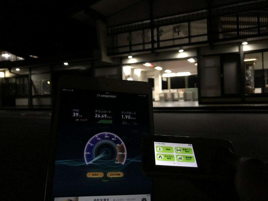 長野県木曽郡南木曽町南木曽駅で計測
