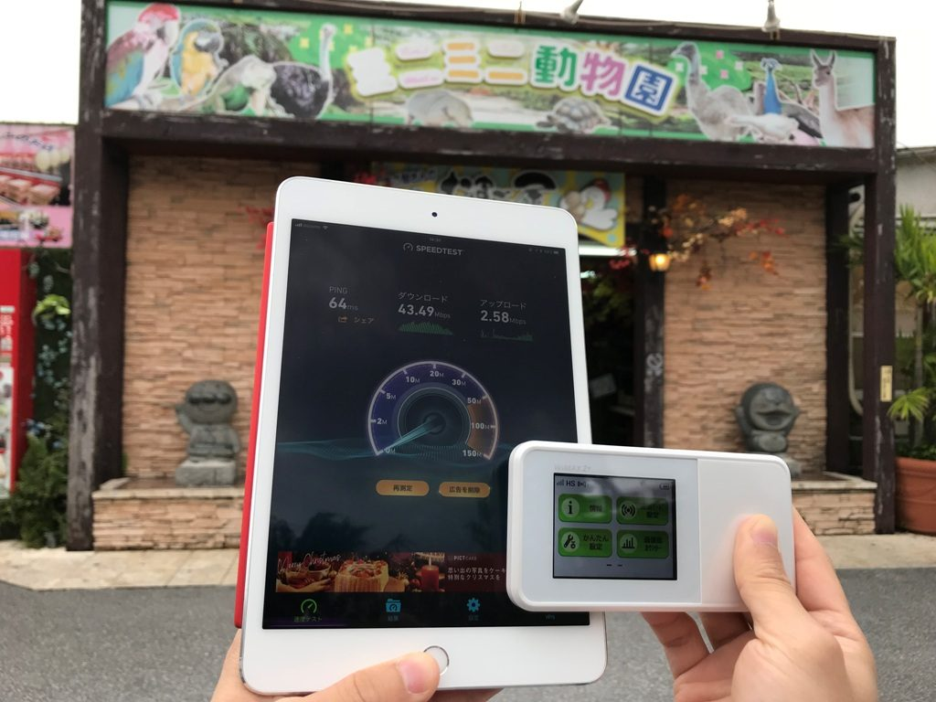 沖縄県うるま市ミニミニ動物園で計測
