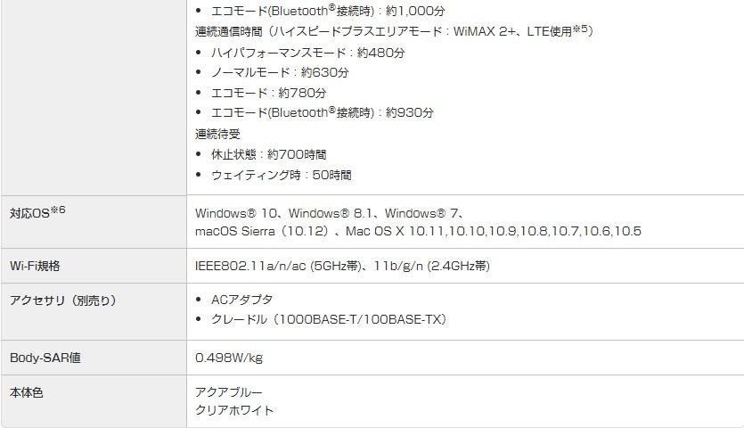 wx04スペック表2