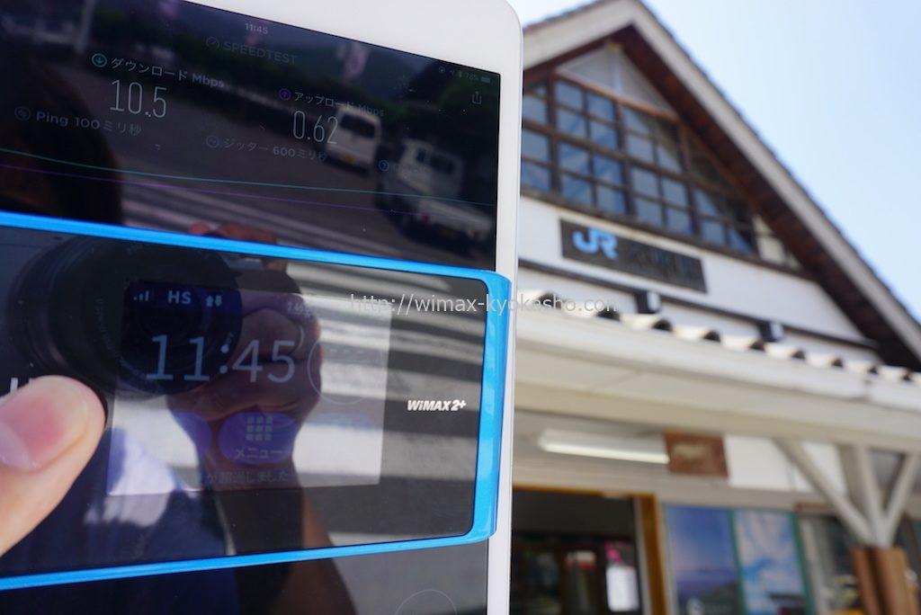 徳島県美馬市穴吹駅で計測(WX04)