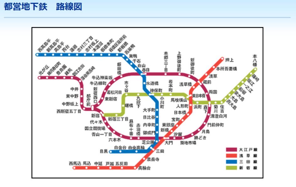 都営地下鉄路線図