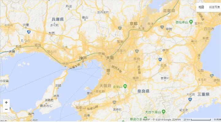 WiMAXエリア(大阪)