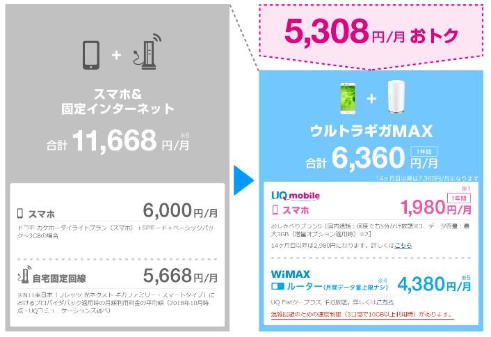 ウルトラギガMAX料金②